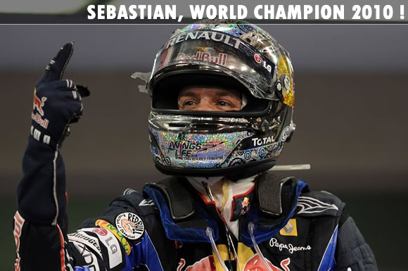 Sebastian Vettel World Champion 2010